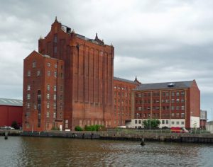 View of Victorial Mill from Alexandra Dock
