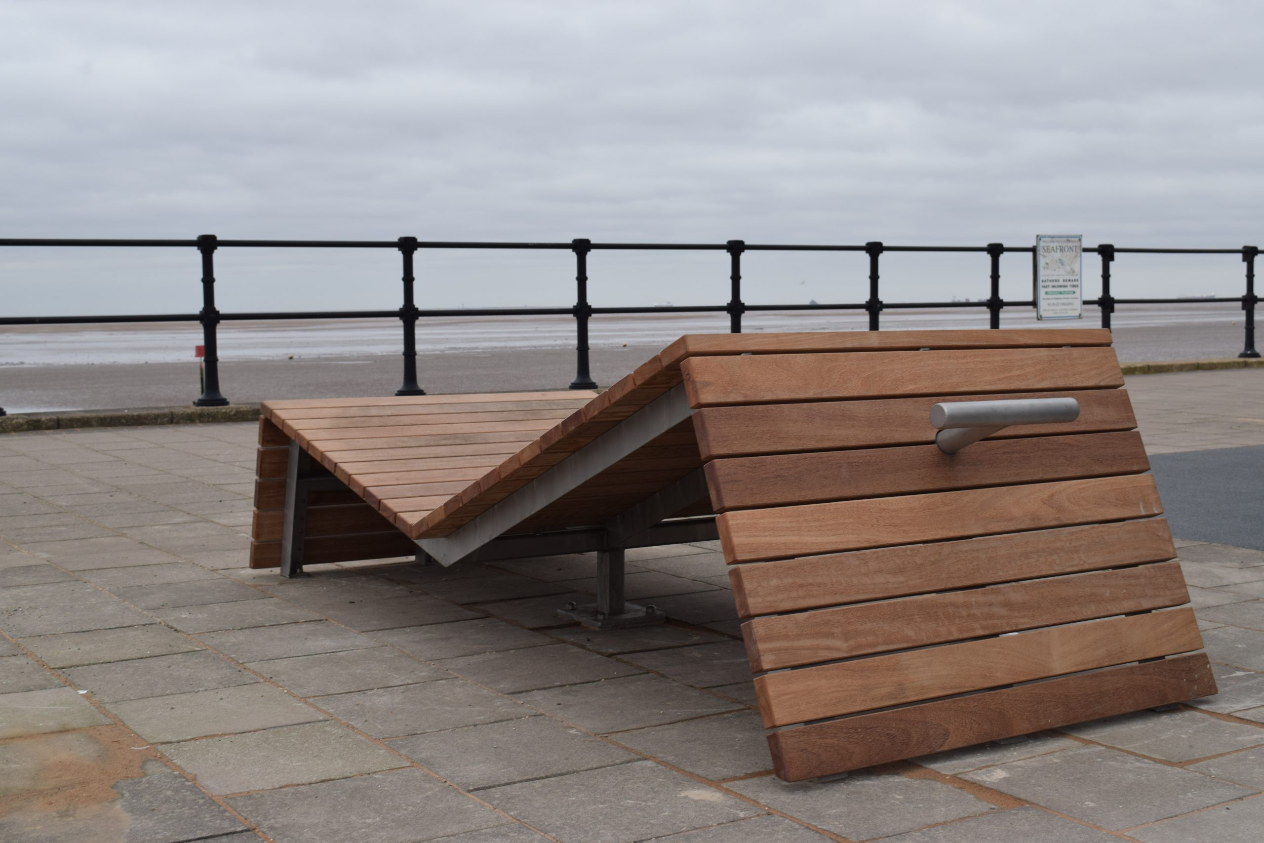 New exercise furniture installed on the North Prom